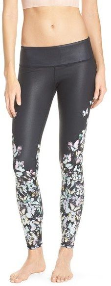 #Spring #Leggings Alo 'Airbrushed' Glossy Leggings