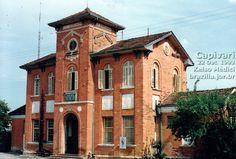 Prédio da antiga estação ferroviária de Capivari, utilizado como posto da Polícia Militar em 1993