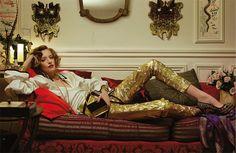 Gypsi queen, inspiration Loulou de la Falaise (photos : Jean-Baptiste Mondino) #gypset #bohemian #chic