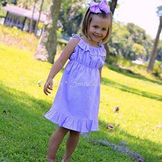 3/28/2013   Lavender Seersucker Sun Dress