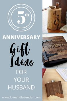 Need some help picking out a 5th anniversary gift for your husband? Weve got a load  of unique ideas to get you started!  #anniversary #anniversarygifts #anniversarygiftideasforhim #anniversarygiftsforhim
