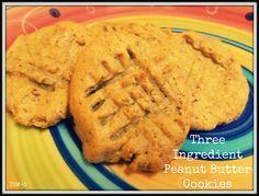 3 Ingredient Peanut Butter Cookies (S)
