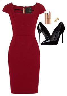 Donna Paulsen Inspired Outfit by daniellakresovic ❤ liked on Polyvore featuring Roland Mouret, DolceGabbana and Eddie Borgo