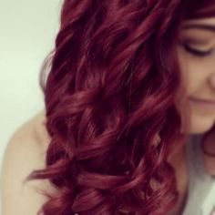 Red Curls. Love this color!