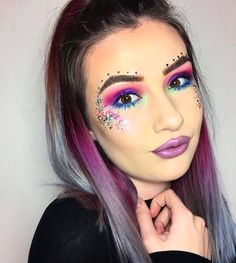 Mermaid makeup festival makeup coachella makeup glitter makeup bright makeup metallic makeup https://instagram.com/p/BQ_GzpAFhOT/