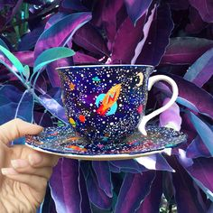 I know it's technically a tea cup, but it would also hold coffee :)