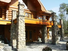 log home pictures inside and out | Catwalk and stairs built and installed in a 20 year old log home