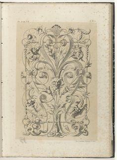 Michel Liénard   Paneel met satermasker tussen bladranken en rolwerk, Michel Liénard, Charles Claesen, 1866  