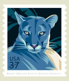 US 2007 Sc 4139 Florida Panther (Puma concolor coryi) Mi for sale at The Philately Going Postal, First Day Covers, Mail Art, Stamp Collecting, Postage Stamps, Usa, Mountain Lion, Animal Totems, Panthers
