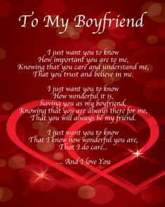 Beautiful message for boyfriend