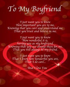 Beautiful message for boyfriend