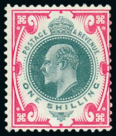 King Edward VII De La Rue Dull Green And Carmine Pink On Chalky Mint Small Gum Wrinkle Otherwise Fine Very Scarce Listed In The Hendon Stamp Co
