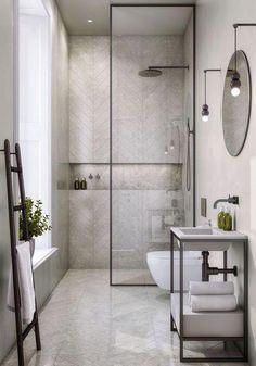 A pure design apartment in a Renaissance building - PLANETE DECO a homes world Steam Showers Bathroom, Bathroom Spa, Bathroom Layout, Bathroom Interior, Bathroom Mirrors, Bathroom Cabinets, Bathroom Ideas, Bathroom Designs, Bathroom Trends