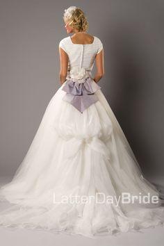 Modest Wedding Dress, Rosabella | LatterDayBride & Prom. Modest Mormon LDS Temple Dress
