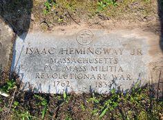 Gravestone of Isaac Hemingway