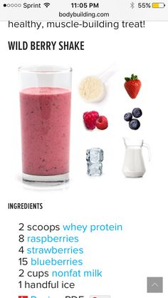 healthy snacks - Strawberry Berries Protein Powder Shake Recipe How to make protein shakes protein shakes recipes protein shake protein snacks protein powder recipes protein powder shakes protein shakes to gain muscle how to make protein shakes whey pr Protein Desserts, Whey Protein Smoothies, Pancakes Protein, Healthy Protein Snacks, Protein Smoothie Recipes, Protein Powder Recipes, Fruit Smoothies, Milkshake Recipes, Milk Protein