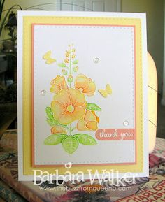 The Buzz: Thank you card featuring, Sunshine and Smiles stamp set from #clearlybesotted Watercolored with #zigcleancolorrealbrush pens sequins from #prettypinkposh More details on my blog. Click the pic!