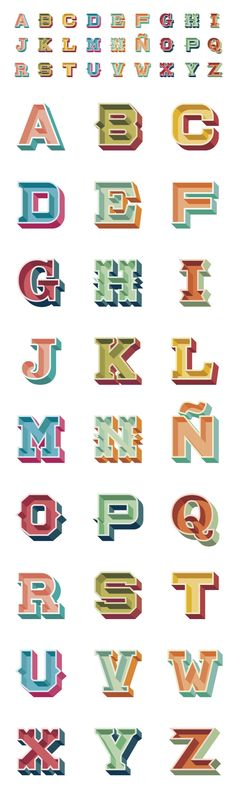 Fun alphabet Choices Lettering by David Sierra Typography Served, Typography Love, Typography Letters, Graphic Design Typography, Lettering Design, Hand Lettering, Inspiration Typographie, Pattern Texture, Drop Cap