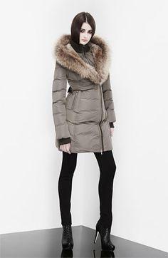 Mackage 'Akiva' Genuine Fox & Rabbit Fur Trim Down Coat | Nordstrom