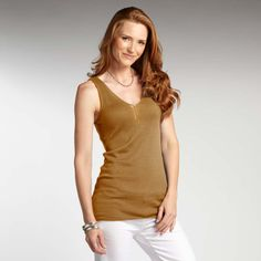 fair trade, organic cotton Urban Tank in gold from @INDIGENOUS