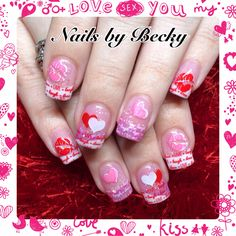 Nails-by-Becky-valentines-sparkle-glitter--pink-red-white-hearts-lips-live-laugh-love