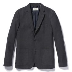 COTTON/WOOL DOBBY BLAZER // Original Penguin