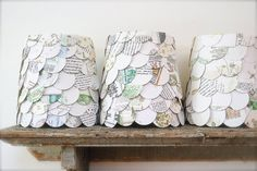 lampshades made from books and maps