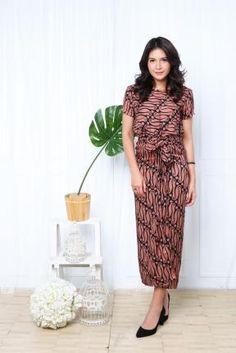 CA.29072 Brown Black Rosita Babyfly Batik Dress