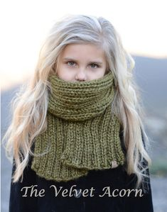 Knitting PATTERN-The Morya Scarf/Cowl Set (Toddler, Child, Adult sizes)