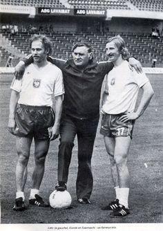 Grzegorz Lato (Poland, 1971–1984, 100 caps, 45 goals), manager Kazimierz Górski (Poland, 1971–1976) and Andrzej Szarmach (Poland, 1973–1982, 61 caps, 32 goals).