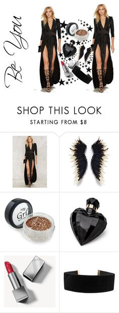 """""""Black #8- Be You"""" by destinyvanmali ❤ liked on Polyvore featuring Zhivago, Lipsy and Burberry"""
