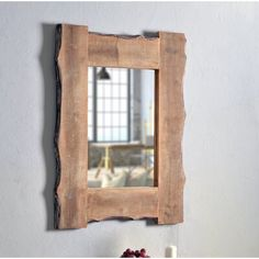 Round Wall Mirror, Wall Mounted Mirror, Diy Mirror, Country Wall Mirrors, Rustic Bathroom Mirrors, Mirrored Picture Frames, Window Frames, Distressed Walls, Woodworking Furniture