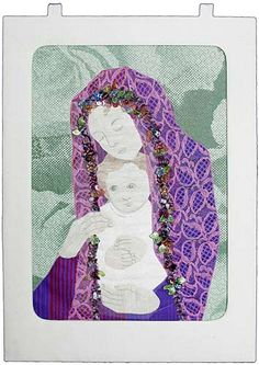 'Madonna and Child' by Pauline Coates. Christmas Card Challenge: Best Interpretation of Theme. 2008 Auckland Patchworkers and Quilters Guild