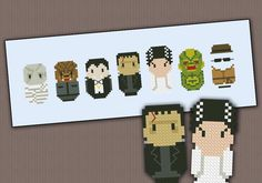 free cross stitch patterns of the creature from the black lagoon   Embroidery: Classic Horror movie Monsters