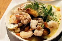 Creole Bouillabaisse _ This soup is one that all Seafood lovers will enjoy.  It's smooth, rich flavor warms you to the core & tantalizes your tastebuds.  The broth itself soothes & gives you that warm home feeling of comfort.