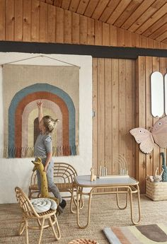 Buy OYOY Follow The Rainbow Wall Rug — Is To Me Rainbow Room, Rainbow Wall, Deco Kids, Rattan Furniture, Kids Furniture, Childrens Room Decor, Kids Room, Flamingo, Wall Decor