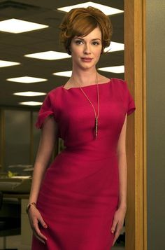 Love what the costume designer did for Joan - strong, jewel tones and structure. Gorgeous! This frock is one of my faves.