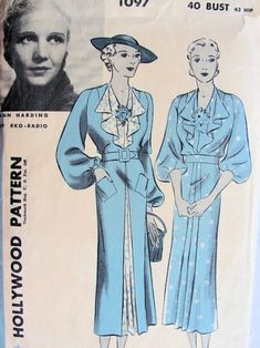 Ann Harding wore this style of dress.