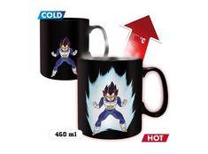 Κούπα με τον Vegeta από την anime σειρά Dragon Ball Z. Κεραμική κούπα με σχέδιο, που εμφανίζει την αύρα με την αλλαγή της θερμοκρασίας (Heat-Active), χωρητικότητας 460 ml.