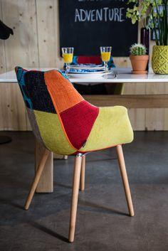 CHAIR TWELVE   Jedinečná čalúnená stolička v štýle patchwork alebo vo vzhľade kože