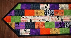 Quilted Halloween Table Runner Spooky 10 by 40 by MonkeyMuffin, $30.00