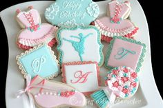 Cookies with Character - Ballet sugar cookies.  Love the colors.