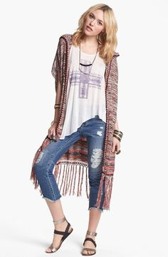 summer cardi with fringe