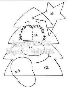 Christmas Tree Crafts, Christmas Makes, Christmas Items, Christmas Cross, Felt Christmas, Christmas Ornaments, Felt Ornaments Patterns, Felt Patterns, Felt Snowman