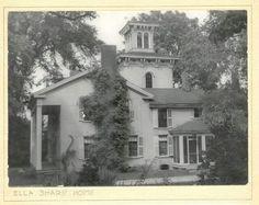 Vintage photo of the Ella Sharp Home, the Hillside Farmhouse, now the Ella Sharp Museum in Jackson, Michigan