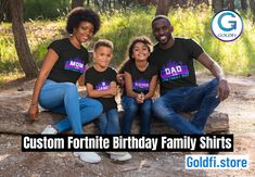 Fortnite Family Birthday Shirts - Custom Fortnite Birthday Shirt - Fortnite Birthday Shirt - Fortnite Birthday T Shirt- Fortnite Birthday  by BestBirthdayParty, $17.99 EUR Family Birthday Shirts, Family Birthdays, Family Shirts, Boys Shirts, Happy Birthday Printable, Birthday Thank You Cards, Combined Birthday Parties, Custom Birthday Invitations, Invitations Kids