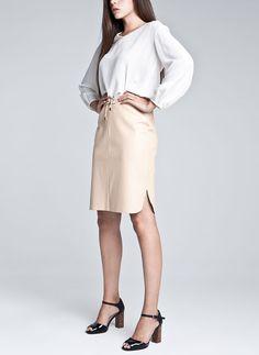 Uterqüe España - Falda goma cintura