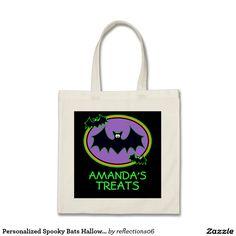 Personalized Spooky Bats Halloween Treat