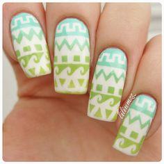Tribal nails with vinyls from Twinkled_t  #nail #nails #nailart #naildesign #nailpolish #nailstagram #manicure #mani #neglelakk #manikyr #instanails #nagellack #nailspiration #notd #nailsoftheday #cutenails #cutemani #nails2inspire #nailartaddict #nailsofinstagram