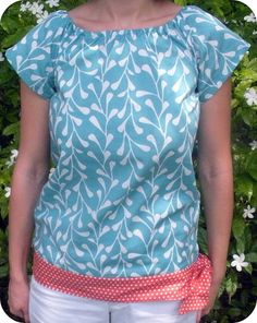 for shirts that might shrink when you wash them try adding a little flare to the bottom for length!
